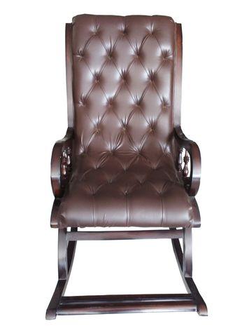 Cushioned  Rocking Chair - Walnut Finish