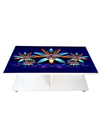 Coffee Table - Ruby Blue (Glossy Finish)