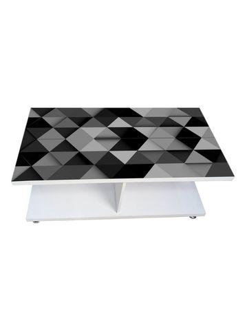 Coffee Table - Grey Black (Glossy Finish)