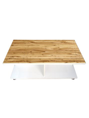 Coffee Table - Wooden Texture (Glossy Finish)