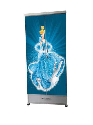 BigSmile Kids Wardrobe - Dazzling Princess (5.5ft x 2.5ft) Glossy Finish