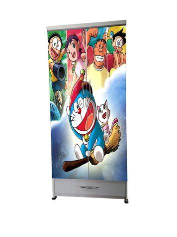 BigSmile Kids Wardrobe - Doreamon (5.5ft x 2.5ft) Glossy Finish