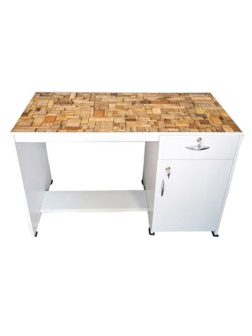 BigSmile Study Table - Wooden Texture-02