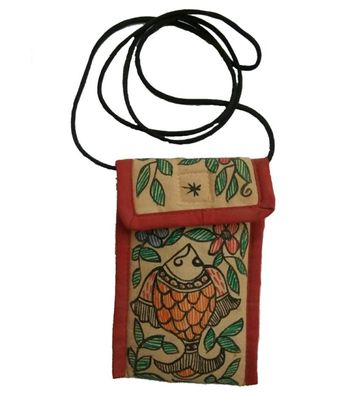 Mithila Painting Mobile Pouch