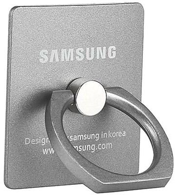 ikazen Ring Stand Holder/Mobile Phone Ring Stent/Guard Against Theft Clasp/360 Degree Rotating Metal Ring Holder Mobile Phone Stand For any Device - Silver