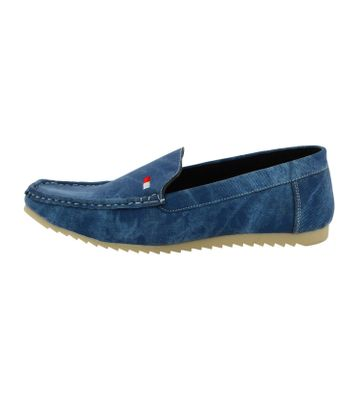 LeatherKraft Men's Denim Loafers