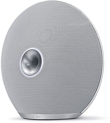 iBall Disc A9 Bluetooth Speaker (White/Silver) with Aux with Inbuilt Battery