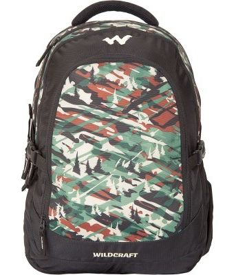 WILDCRAFT CAMO 4 BACKPACK BAG - GREEN
