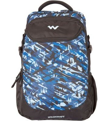 WILDCRAFT CAMO 5 BACKPACK BAG - BLUE