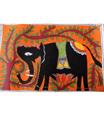 Mithila Painting (Theme : Elephant)