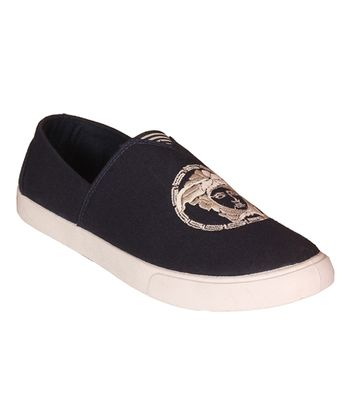 Delux Look Black Slip-on Shoes