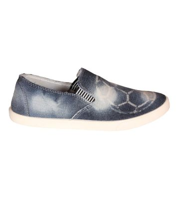 Delux Look Blue Slip-on Shoes