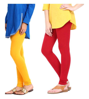 Delux Look Multicolor Stylish Leggings - Set of 2