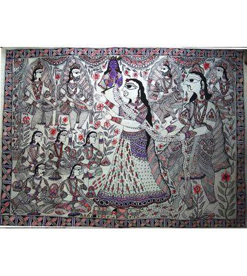 Mithila Painting (Draupadi Cheer Haran)