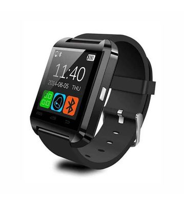 PTron Gallant Bluetooth Smart Watch Wrist Wrap Watch Phone For All IOS Android Smartphones (Black)