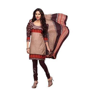 Unstiched Dress Material With Dupatta