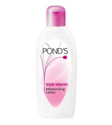 Pond's Triple Vitamin Moisturing Body Lotion 300 ml + FREE Ponds white beauty Facial Foam 20g