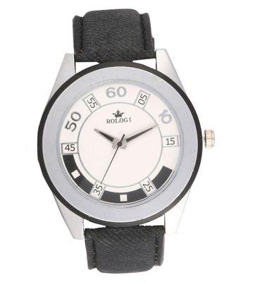 Rologi Black Analog Watch