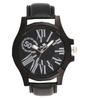 Rologi Black Analog Watch