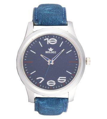 Rologi Blue Analog Watch