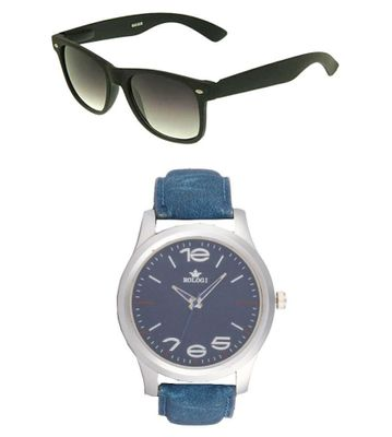 Rologi Blue Analog Watch with Sunglasses