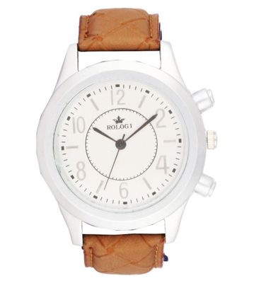 Rologi Brown Analog Watch