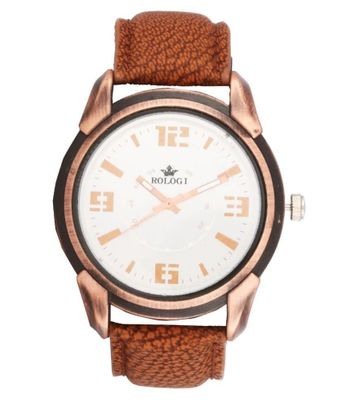 Rologi Brown Leather Watch