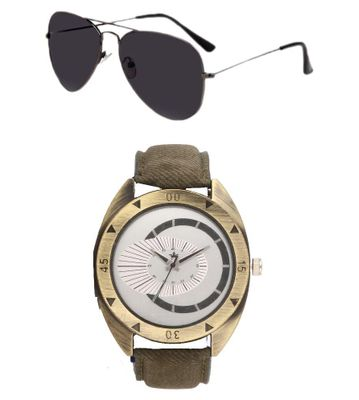 Rologi Brown Analog watch with Sunglasses