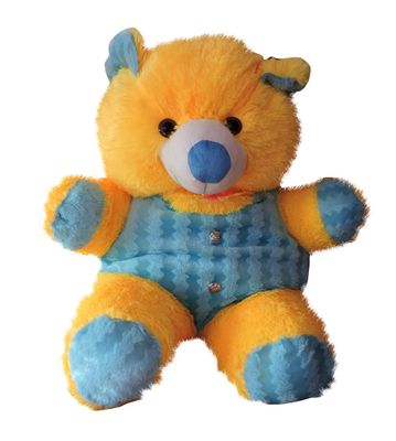 Yellow & Sky Blue Medium Size Teddy