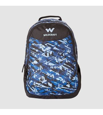 WILDCRAFT CAMO 1 BACKPACK BAG - BLUE