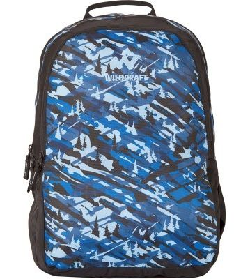 WILDCRAFT CAMO 2 BACKPACK BAG - BLUE