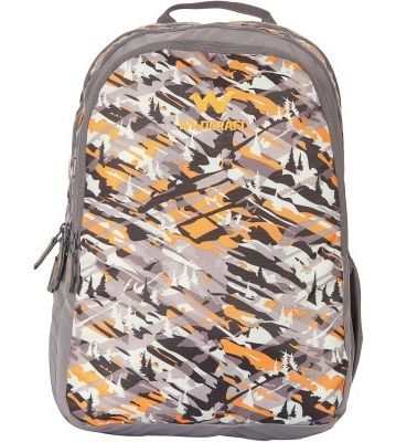 WILDCRAFT CAMO 2 BACKPACK BAG - ORANGE