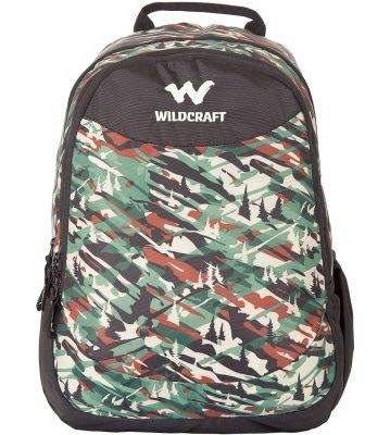WILDCRAFT CAMO 1 BACKPACK BAG - GREEN
