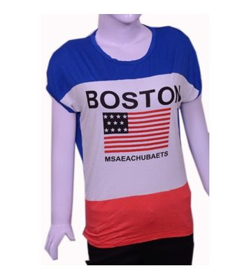 Boston blue print t-shirt