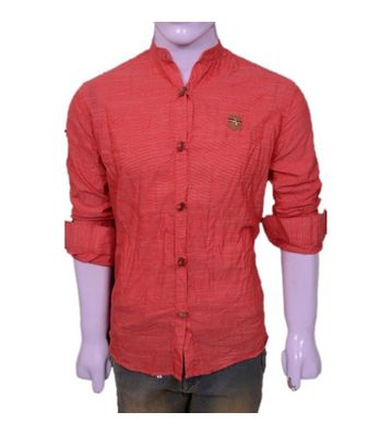 wooden button casual shirt