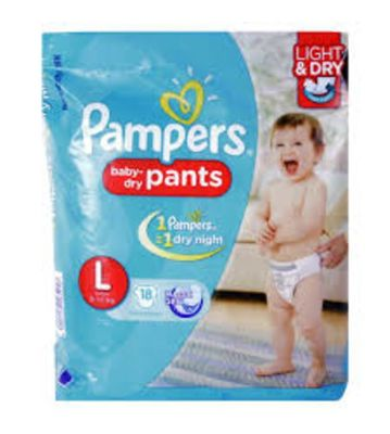PAMPERS BABY DRY PANTS L 20PCS 9-14 KG