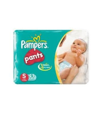 PAMPERS BABY DRY PANTS S 9PCS 4-8 KG