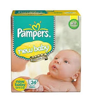 PAMPERS NEW BABY UPTO 5KG 24 DIAPERS