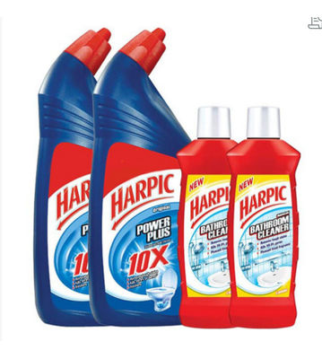 Harpic Powerplus Original 1 L + Free Bathroom Cleaner 200 ml (Pack of 2)