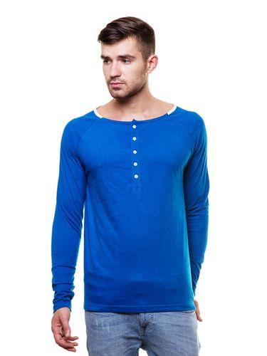 Wide Round neck henley tshirt