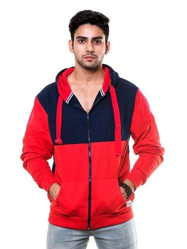 Cut & Sew Sweatshirt with Hood & Zip