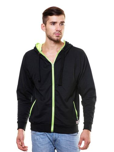 Neon Double Layered Sweatshirt with Hood & Zip