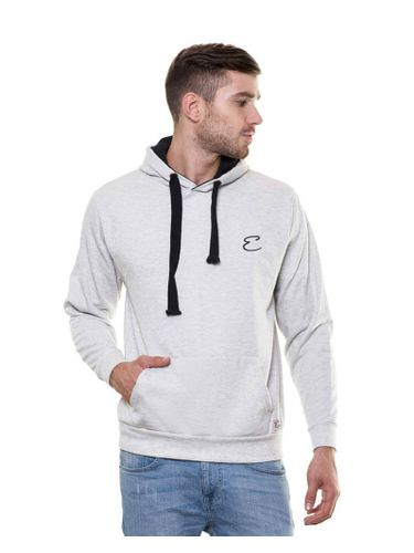 Solid plain Grey Melange Sweatshirt with Hood