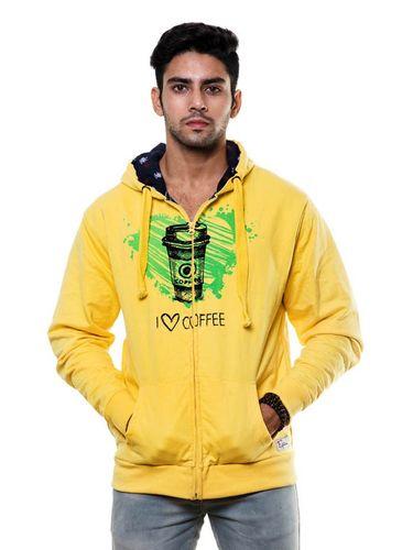 Double Layer Printed sweatshirt with Hood and Zip