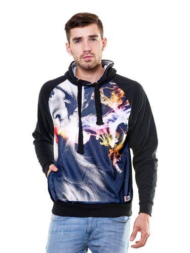 Digital Print Hukka sweatshirt with Hood