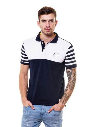Printed Sleeves Polo Tshirt