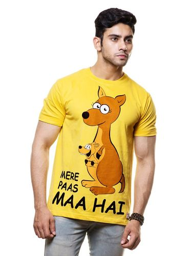 Mere Paas Maa Hai Round Neck T Shirt