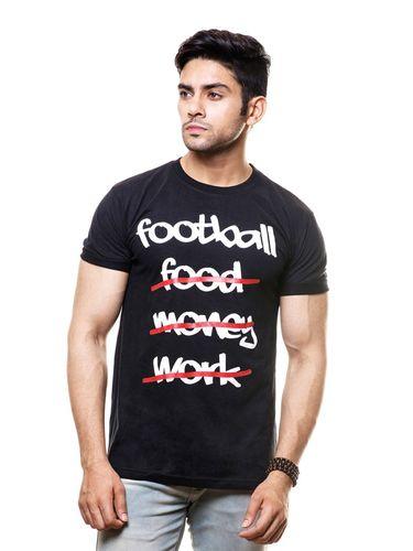 Addicted to football Round Neck T Shirt