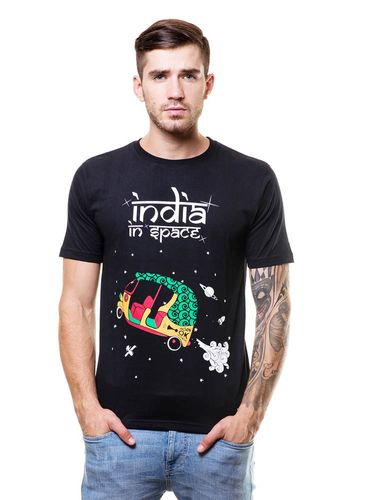 India in Space Round Neck T Shirt