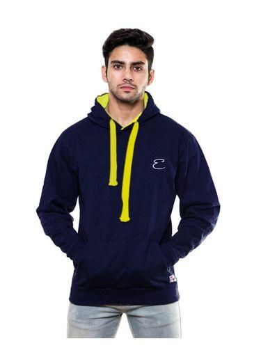 Solid Plain Navy Blue Sweatshirt with Hood